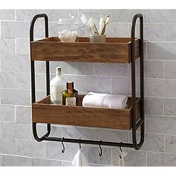 Amazon.com: Industrial Retro Wall Mount Pipe Bathroom Shelf,Bathroom ...