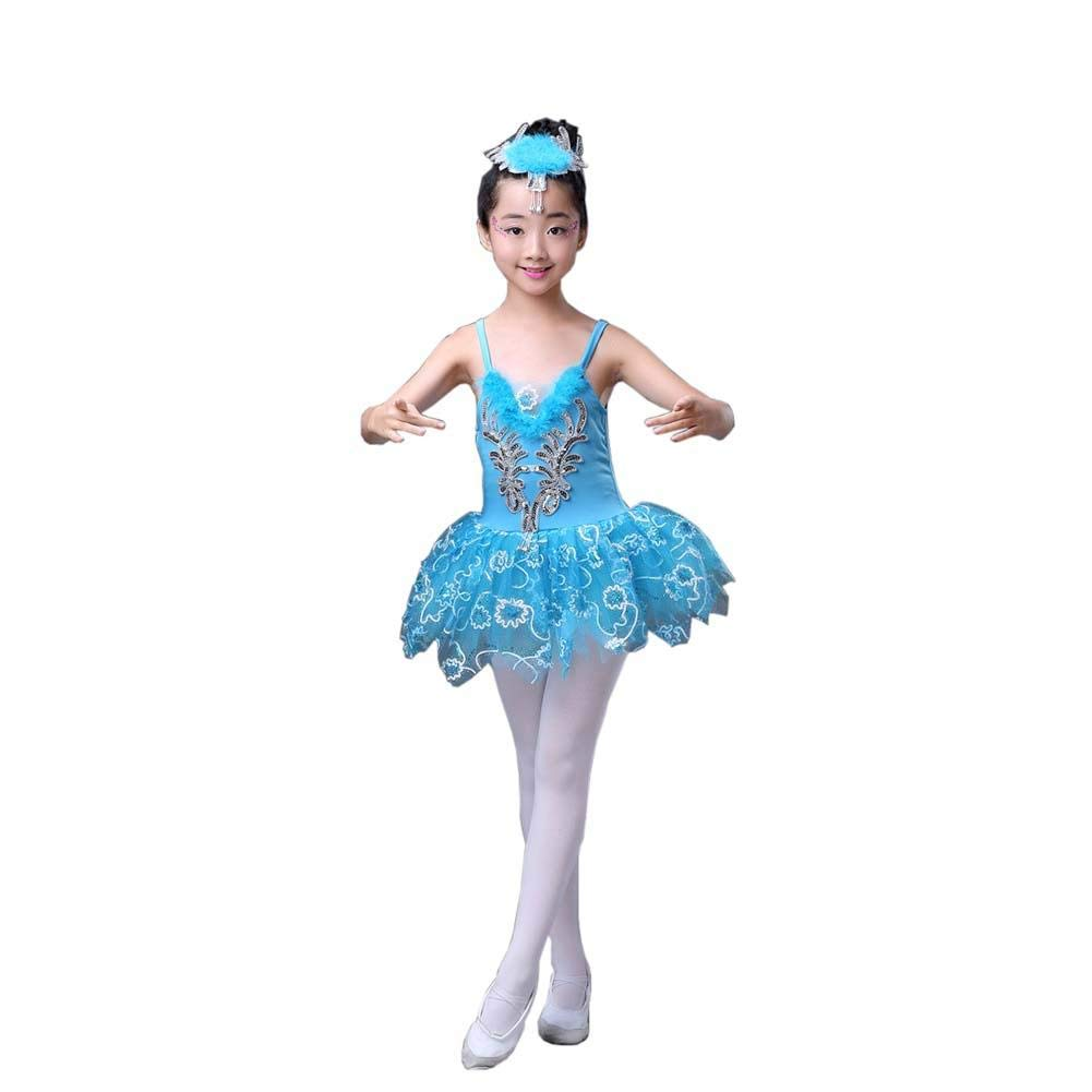 Ballet Dance Accessories Girls Dancewear Leotard Tutu Dress Party Costumes, C
