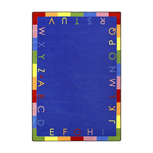 Joy Carpets Kid Essentials Early Childhood Rainbow Alphabet Rug, Bold, 5'4'' x 7'8'' by Joy Carpets