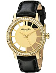 Kenneth Cole New York Womens KC2891 Transparency Analog Display Japanese Quartz Black Watch