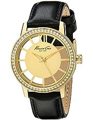 Kenneth Cole New York Womens KC2891 Transparency Analog Display Japanese Quartz Black Watch