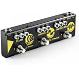 Donner Multi Guitar Effect Pedal Alpha Cruncher 3 Type Effects Delay Chorus Distortion Pedal with Adapter
