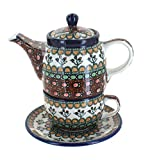 Polish Pottery Golden Pastures Tea for One