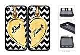 Best Nue Design Cases friends phone case - Best Friends Heart Charm Black And White Chevron Review