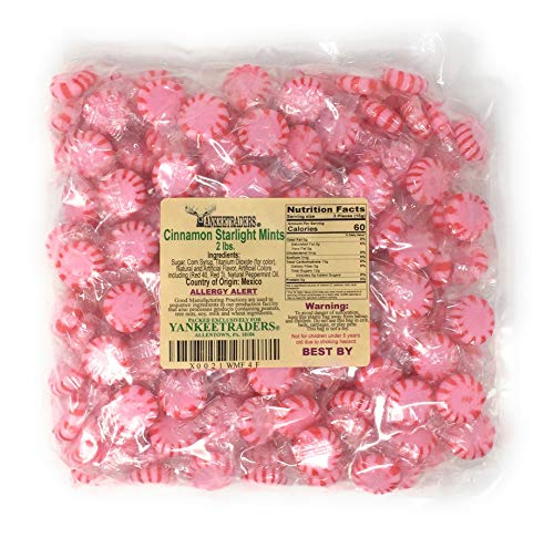YANKEETRADERS Starlight Cinnamon Hard Candy - 2 Lbs Bulk