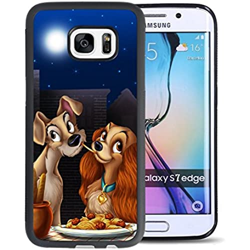 Lady and the Tramp Samsung Galaxy S7 Edge Case, Onelee [Never fade] Lady and the Tramp Samsung Galaxy S7 Edge Black TPU and PC Case [Scratch proof] Sales