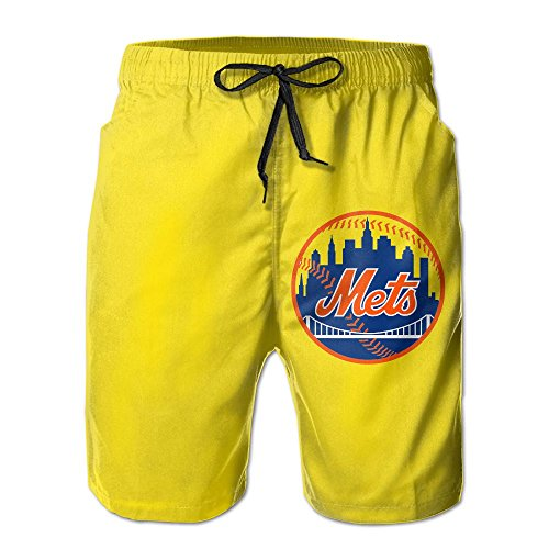 New York Mets Baseball Schedule - Isaac Herdy Men's New-York-Mets-Logo Quick Dry Summer Short Swimming Trunks Short