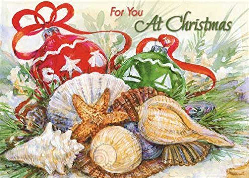 Red Farm Studios - Ornaments and Shells - Red Farm Studios Box of 18 Warm Weather Christmas Cards by Red Farm Studios