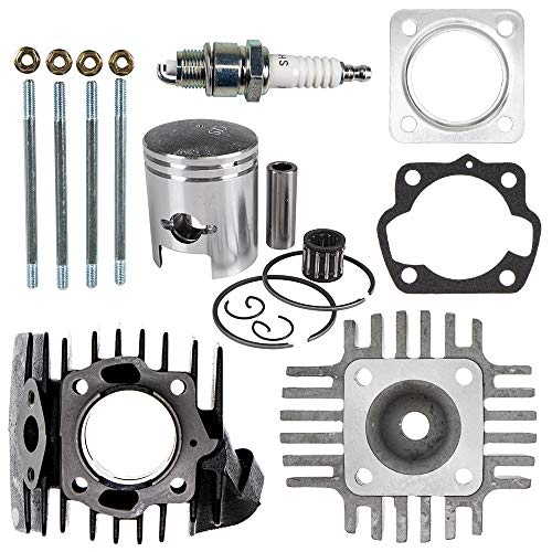50cc Piston Cylinder Gasket Head Top End Kit For 1978-2006 Suzuki ALT50 KDX50 Quadrunner LTA50 Replaces 11210-04012-0F0