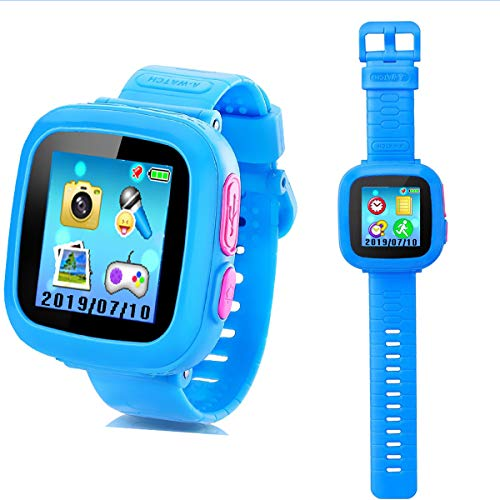 Kids Smart Watch Game Smart Watch with Puzzle Games Toys Camera Pedometer Alarm Clock Calculator Calories Recorder Calendar Birthday Learning Toys Boys Girls(Blue)
