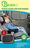 "Car Sun Shade (2 Pack) Size 19""x12"" - Premium Baby Car Window Shades are Best for Blocking Nearly 99% of Harmful UV Rays While Protecting Your Child from Sunlight and Glare"
