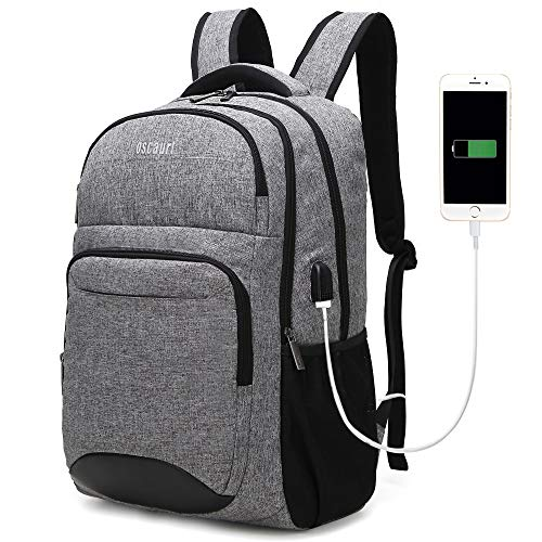 Travel Laptop Backpack, Business College School Bookbag,Slim Durable Water Resistent Computer Bag for Women & Men Fit 15.6 Inches Laptop (Gray) (Best Computer For College Freshmen)