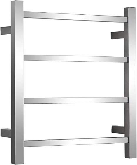 4-Bars Drying Rack Electric Towel Warmer with Built-in Timer Freestanding Portable Drying Rack for Home Bathroom Stainless Steel Hardwired and Plug in Options,A,1