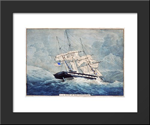 - U.S. sloop of war Albany, 22 guns 20x24 Framed Art Print by Currier and Ives