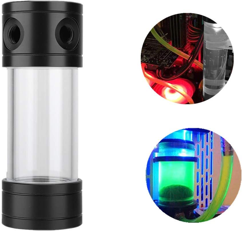 Jacksking Cylinder Water Tank 150mm Cylinder Fast Cooling Water Bottle Can for PC Computer Water Cooling Radiator
