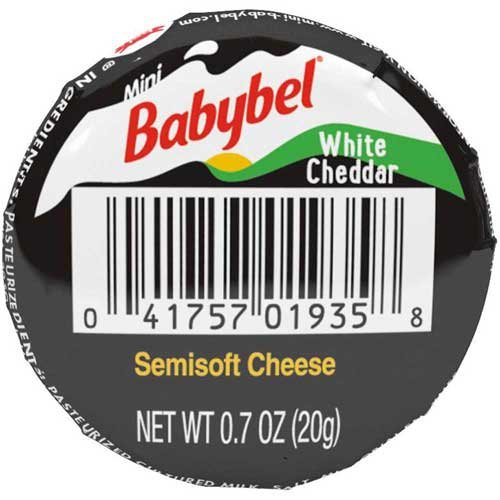 Mini Babybel White Cheddar Cheese, 0.7 Ounce - 30 per case. by Mini Babybel