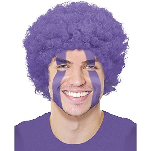 Amscan Curly Afro Wig Costume Party Headwear, Purple, 11 x 8""