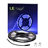 LE 16.4ft LED Flexible Strip Lights, 300 Units SMD 2835 LEDs, 12V DC Non-waterproof, LED ribbon, DIY Indoor Party Christmas Holiday Home Kitchen Car B