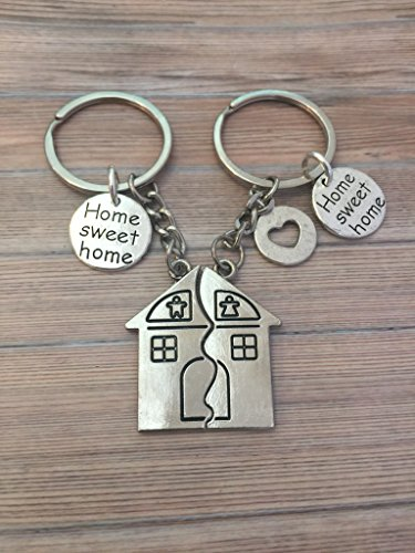 Brass Key New Home Key Chain Gift For New Home Owners Gift for a Couple Buying First or New Home