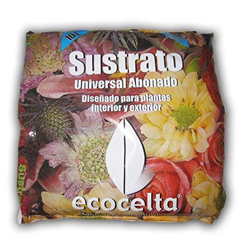 Ecocelta Sustrato ecológico 10 l, Negro, ZA31: Amazon.es: Jardín