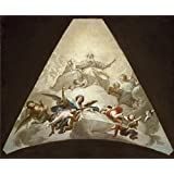 Oil painting 'Bayeu y Subias Francisco El Triunfo del Cordero de Dios Ca. 1778 ' printing on polyster Canvas , 10 x 12 inch / 25 x 31 cm ,the best Nursery decor and Home artwork and Gifts is this High Resolution Art Decorative Prints on Canvas