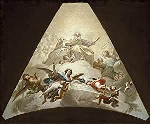 high quality polyster Canvas ,the Best Price Art Decorative Prints on Canvas of oil painting 'Bayeu y Subias Francisco El Triunfo del Cordero de Dios Ca. 1778 ', 20 x 24 inch / 51 x 62 cm is best for dining Room gallery art and Home gallery art and Gifts