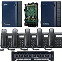 Panasonic KX-TDA50G Small Office Business Phone System 5pc KX-DT543 Black KX-TVA50 Voicemail KX-TDA5171 4 Port Expantion Card PSDCAT5e 12 Port Patch Panel