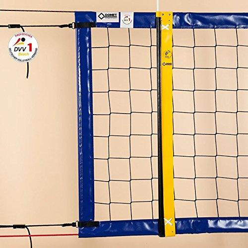 Beach-Volleyball-Turniernetz DVV-1, ca. 3 mm, 8,5 x 1,0 m, Einfassung blau DONET