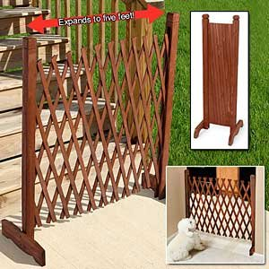 Expanding Wooden Fence (Lattice Gate)