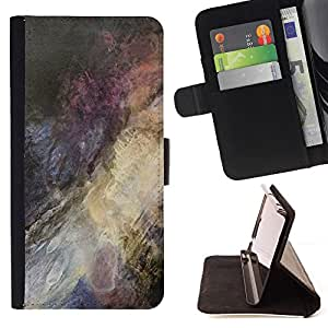 Bright-Giant (Dark Colour Splash Painting) Modelo Colorido Cuero Carpeta Tirón Caso Cubierta Piel Holster Funda Protección Para Samsung Galaxy A5 ( A5000 ) 2014 Version