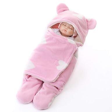Manta Arrullo de Bebé Piernas Separadas Saco de Dormir Infantil Gruesa Swaddle Invierno cálido Saco de