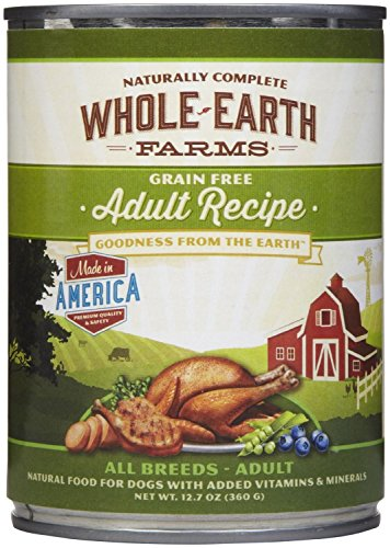 Merrick Whole Earth Farms Adult Chunky Loaf Dog Food, 12.7 Ounce Can (12 Pack)