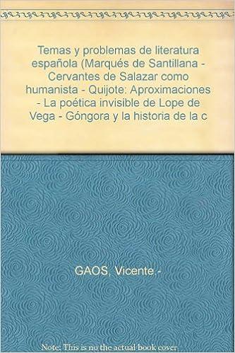Temas y problemas de literatura española Marqués de Santillana ...
