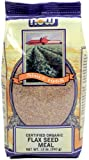 NOW Foods Organic Flax Seed Meal, 12-Ounce (Pack of 6)