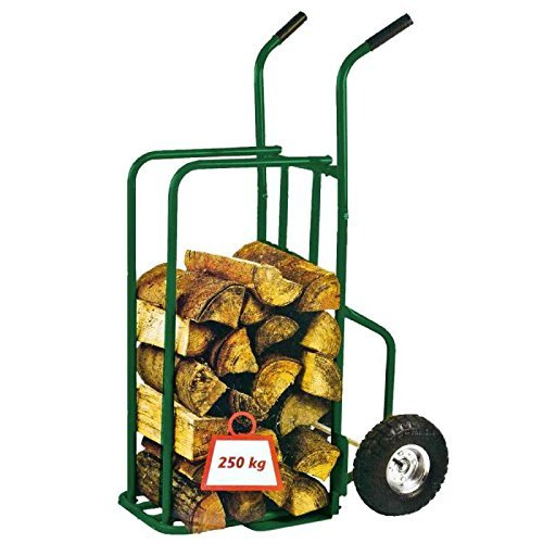 Provence Outillage 07511Log Trolley Maximum Load 250kg + inflated Wheels Green