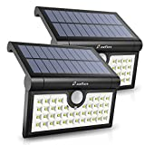 Zanflare 42 LED Solar Lights, Motion Sensor Outdoor Wall Lights, 3 Adjustable Sensor Lighting Modes, Super Bright Outside Lights Waterproof Security Lights for Garden, Driveway, Yard, Patio, Garage (2 Pack 42 LED)