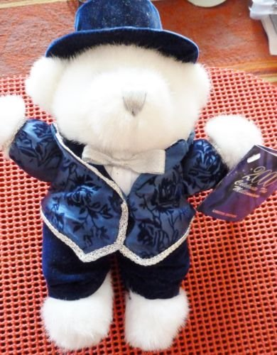 Lee Capozzi 2000 Celebrate The Millenium Limited Edition Teddy Bear Dressed in Blue Velour (Bear Teddy Christmas Dressed)