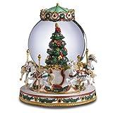 San Francisco Music Box Company - O'Tannenbaun Carousel Horse Water Globe
