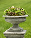 Campania International P-629-GS Rustic Palazzo Urn, Grey Stone Finish