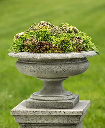 Campania International P-629-GS Rustic Palazzo Urn, Grey Stone Finish by Campania International
