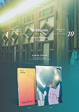 Kim Sung Kyu Infinite 10 Stories Vol 1 Normal Ver Cd Postcard Photocard Folded Poster Free Gift Home Kitchen
