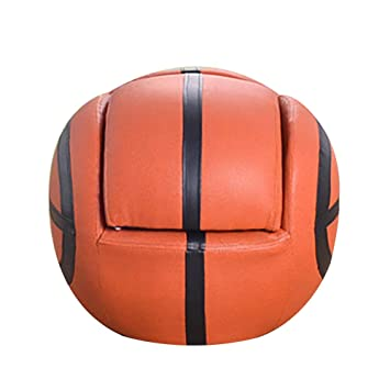 Fantastic Basketball Shaped Kids Sofa With Ottoman Pu Leather Leisure Andrewgaddart Wooden Chair Designs For Living Room Andrewgaddartcom