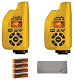 Two PocketWizard Plus III Transceivers (Yellow) Bundle with 4x AA Batteries and Cleaning Cloth