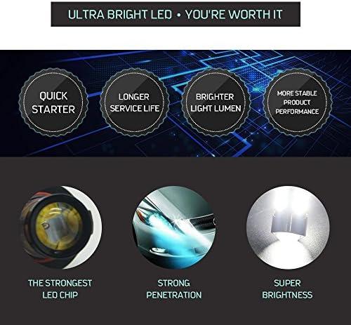 LINGDA H6 M P15D Faro Lámpara de Cabeza luz bombillas LED, 80 W 1985 – 2009 fl350r ATC 350 x FL TRX