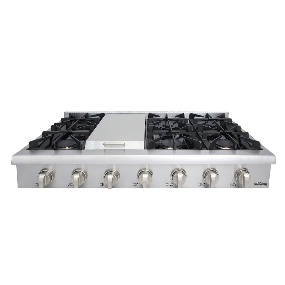 Thor kitchen Gas Rangetop/Cook Top with 6 Sealed Burners 48 - Inch, Stainless Steel HRT4806U