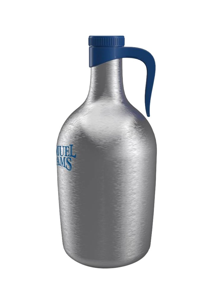 Sam Adams Stainless Steel Beer Growler, 64 oz. Capacity