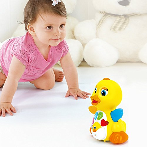 Toyk Kids Toys Musical Duck Toy Lights Action with Adjustable Sound - Toys for 1 2 3 Year Girls and Boys Kids or Toddlers by Toyk (Image #4)