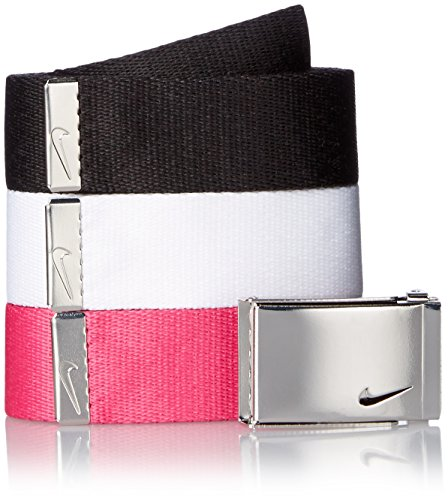 Nike Women's 3-In-1 Web Belt Pack, Black/White/Vivid Pink, One Size