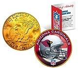 ARIZONA CARDINALS NFL 24K Gold Plated IKE Dollar US Coin * NFL LICENSED *
