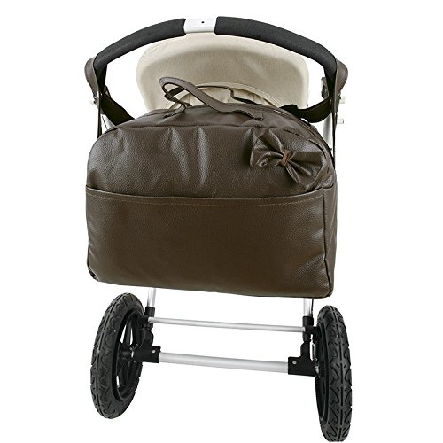 Bolso polipiel carro bandolera marca Andu Modin. Color Chocolate. Personalizado con nombre bordado